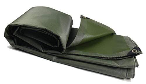 JUNWEN LHXTARPAUIN, wasserdichte Hochleistungs-Plane, geeignet für Gegenstandsabdeckung, Gartendekoration, Outdoor Camping, Campzelt, mehreren Optionen, grün (Größe: 5 *...