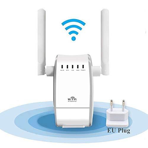 300Mbit/s WLAN Verstärker Wi-Fi Range Extender Wireless Access Point WLAN Router mit 2 Flexible Externe Antennen, WPS, mit 2 Flexible Externe Antennen, WPS, kompatibel mit Allen WLAN Geräten
