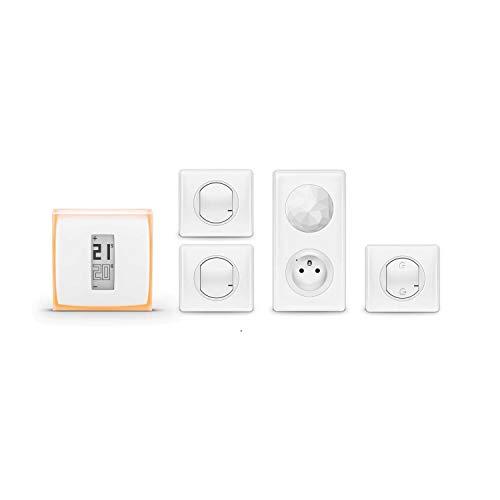 Amazon Echo (2ème génération), Tissu sable + Thermostat Connecté Netatmo by Starck