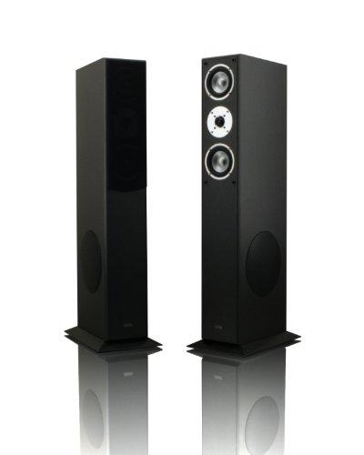 mohr 1 Paar Standlautsprecher SL15 schwarz Lautsprecherboxen, HiFi Klang zum günstigen Preis, Elegante HiFi Standboxen aus Holz, als Stereolautsprecher oder Heimkinolautsprecher geeignet