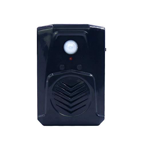 Kleiner schwarzer PIR-Infrarot-Bewegungsmelder Scream Soundbox MP3 Halloween Musik gruselige Stimme Audio Lautsprecher mit USB-Download-Funktion (schwarz)