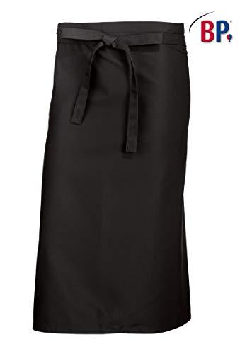 BP 1921-400-32-125/75 Bistroschürze kurz (Breite: 125 cm), 125 cm breit x 75 cm lang, 215,00 g/m² Stoffmischung, schwarz ,125/75