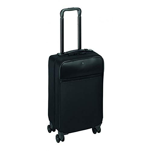 Learn More About Nightflight 4-Wheel Leather Trim Cabin Trolley Case/Spinner Carry on from Montblanc