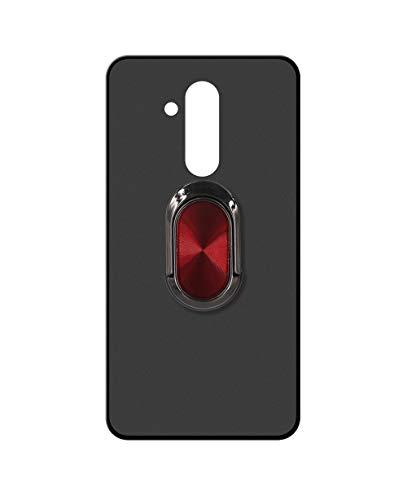 Sunrive Kompatibel mit Ulefone Power 3 / 3S Hülle Silikon, 360°drehbarer Ständer Ring Fingerhalter Fingerhalterung Handyhülle matt Schutzhülle Etui Hülle (A4 Rot schwarz) MEHRWEG