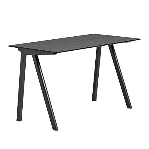 HAY Copenhague CPH90 Schreibtisch Furnier, schwarz Tischplatte Eichenfurnier gebeizt Gestell Eiche massiv gebeizt LxBxH 130x65x74cm