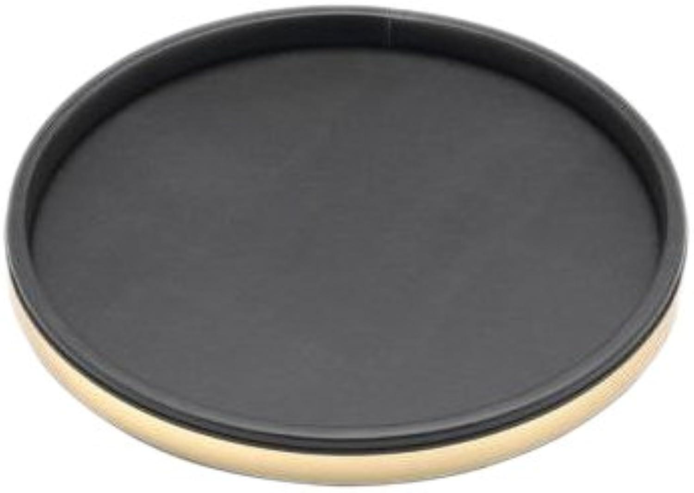 Kraftware 50030 Sophisticates noir avec laiton poli Deluxe 14 pouces Plateau