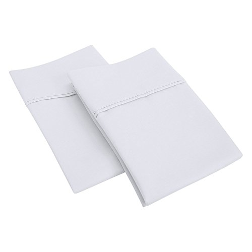 SGI bedding 1000 Thread Count 100% Real Cotton Standard/Queen Pillowcase Size 20X30 White Solid (Pack of 2)