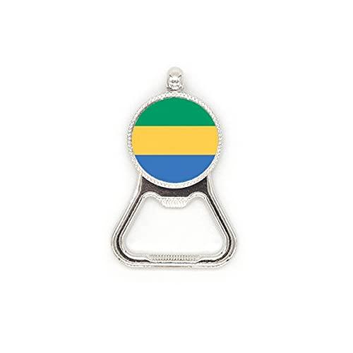Gabunische Flagge Afrika Land Metall Bierflaschenöffner Duty Edelstahl