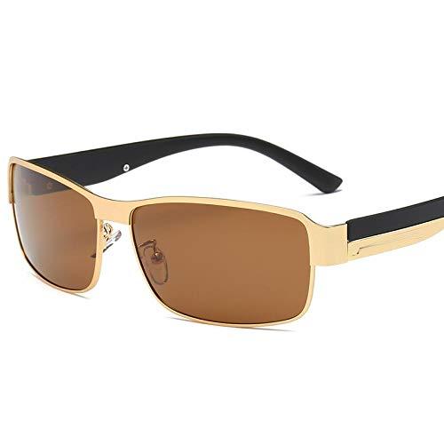 Sunglasses Moda para Hombre Gafas De Sol Polarizadas Diseñador De La Marca Cuadrado Hombre Conducción Pesca Gafas De Sol Deporte Mujeres Gafas De Sol Uv400 Marrón