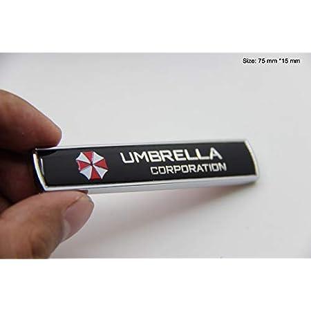 Auteal Alle Metall 2 Stück Set Metall 3d Resident Evil Umbrella Corporation Auto Emblem Aufkleber Auto Universal Auto