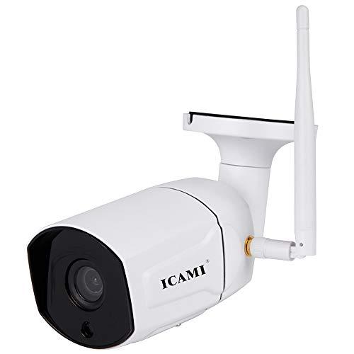 ICAMI 防犯カメラ 屋外 ワイヤレス 監視カメラ SDカード録画 留守 ネットワークカメラ 300万画素 簡単 設置 車上荒らし 家庭用 遠隔監視 スマホ マイク内蔵 防水 IPカメラ