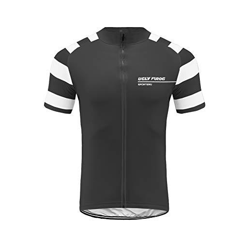 Uglyfrog Bike Wear- Ropa Ciclismo MTB, Maillot sin Manga, Hombre Camiseta Verano de Ciclistas Equipacion Ciclista Triatlon Ropa