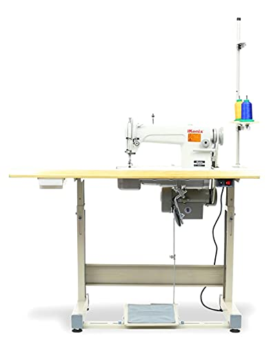 iKonix Sewing Machine walking foot KS-0303 Top and Bottom Feed Leather Canvas same as FY-5318 Table Servo Motor Led.DIY