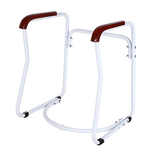 Haltestange für Senioren,Toilettengestell Rutschfest Sicherheitsgestelle für Toiletten WC-Aufstehhilfe Badezimmer Toiletten Sicherheits Haltestange für Senioren