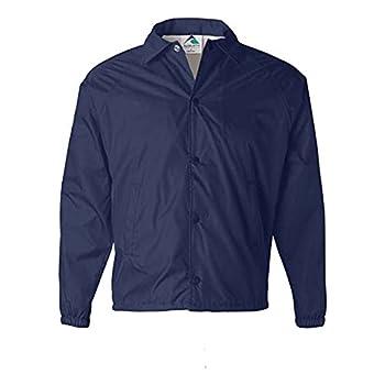 Augusta Sportswear Men s Nylon Coach s Jacket/Lined Navy Large