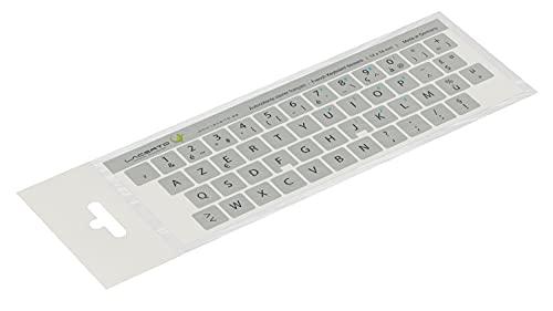 Lacerto® 14x14 mm - Autocollants français AZERTY - Pour claviers PC et ordinateur portable - Avec stratifié mat résistant aux rayures   French Keyboard Stickers   Couleur : argenté