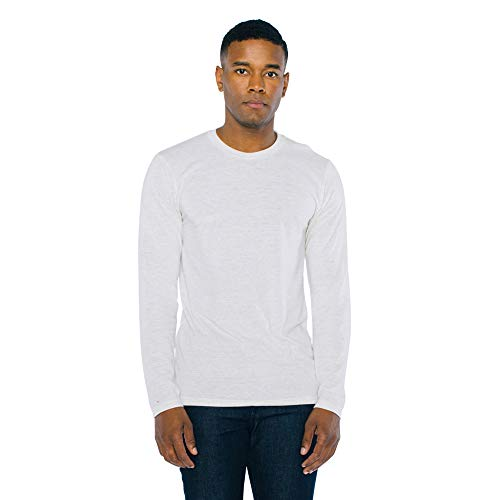 American Apparel Men's Blend Long Sleeve T-Shirt, tri-Oatmeal, Large