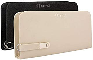 Flora Premium PU Leather Women's And Girl's Wallet Combo Of 2 (White/Black Color)
