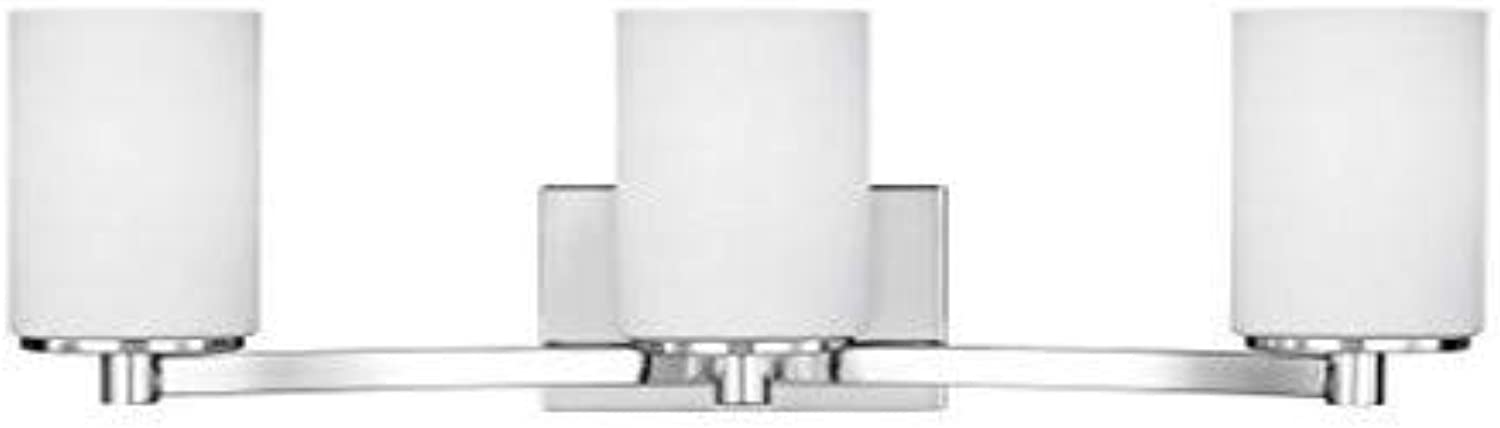 Sea Gull Lighting 4439103-05 Hettinger Vanity, 3-Light, Three, Chrome Finish
