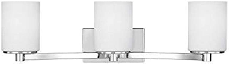 Sea Gull Lighting 4439103-05 Hettinger Three Light Wall/Bath Vanity Style Lights, Chrome Finish