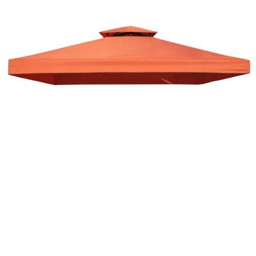 greemotion Ersatzdachbezug für Pavillon Livorno rot, wasserabweisendes Pavillondach, Sonnenschutz bis UV-Faktor 50+, robuster Pavillonbezug aus Ployester mit einer Materialstärke von 180g/m², ca. 300 x 300 cm