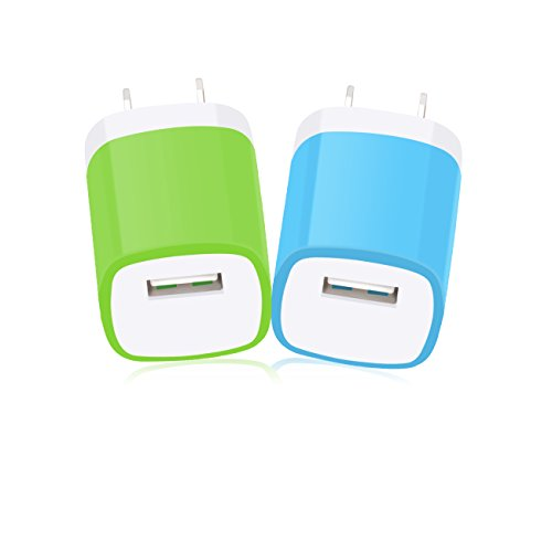 Charger Plug, MaxMall 2-Pack AC/DC USB 1.0AMP Power Home Travel Adapter Wall Charger Plug for iPhone 6 Plus, 6s Plus, iPad, Tablet, Samsung Galaxy, HTC, Sony, LG and More