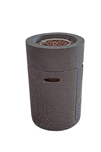 Modeno Gas Feuerstelle Merapi in Basaltoptik aus Faserbeton