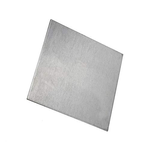 LEISHENT Titanio Foglio di Titanio Lamiera TA2 Foglio per L'aerospazio, Lunghezza 100 Mm Larghezza 200 Mm Spessore da 1Mm A 3 Mm,100x200x1mm