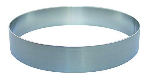 Tortenring Dessertring Kuchenring aus Aluminium, Randhöhe 6 cm, Durchmesser Tortenringe:48 cm