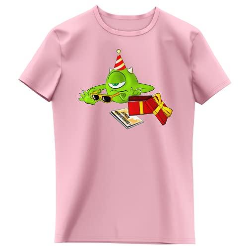 T-shirt Enfant Fille Rose clair (Sakura) parodie Monstres et Compagnie - Bob le meilleur ami de Sully - Un cadeau qui fait plaisir.... :) (T-shirt enfant de qualité premium de taille 11-12 ans - impr