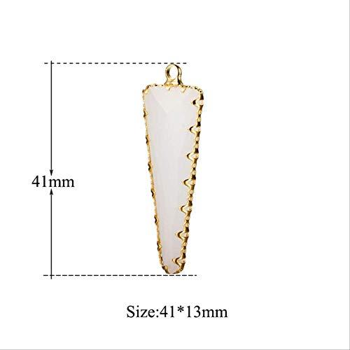 3Piezas/Colgante De Piedra De Cristal De Triángulo Irregular Múltiple Al Por Mayor Colgante De Piedra De VidrioFacetadoDiyJoyería Que Hace El ColganteJa033-1X3