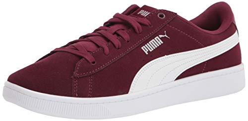 PUMA Vikky Sneaker para mujer, Rojo (Borgoña-puma Blanco-puma Plata), 39 EU