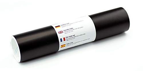 Selbstklebende Wandtattoo-/ Plotterfolie Vinylfolie matt 21 cm x 3 m, Farbe:Schwarz