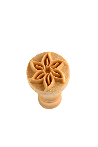 MKM Pottery Tools Stamps 4 Clay Decorative Stamp for Clay (Scm-059 Flower Outline)