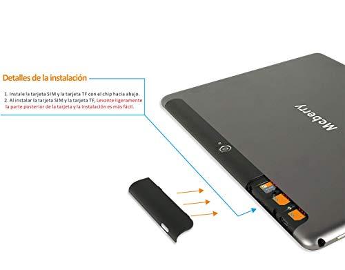 Tablette Tactile Android 9.0 Pie - MEBERRY Tablettes 10 Pouces HD avec 4 Go RAM 64 Go ROM - Certification Google GSM - 4G LTE Dual SIM &Dual Caméra,8000mAh,WI-FI,Bluetooth,Clavier&Souris - Gris