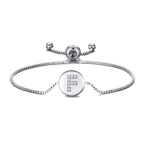 Philip Jones Initial Friendship Bracelet Letter F Created with Austrian Crystals