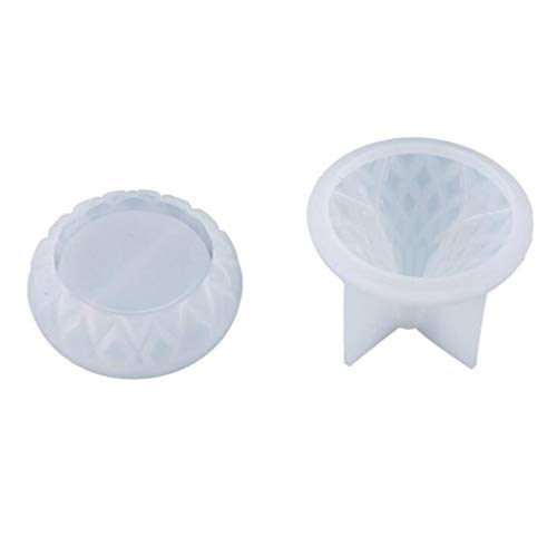 zhichy 1 Unidades caja de almacenamiento contenedor de fundición de silicona molde, molde de silicona de resina, moldes de joyería para resina