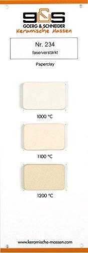 Goerg & Schneider Tonmasse 234 - Paperclay, ohne Schamotte, Ton zum Töpfern/Aufbauen