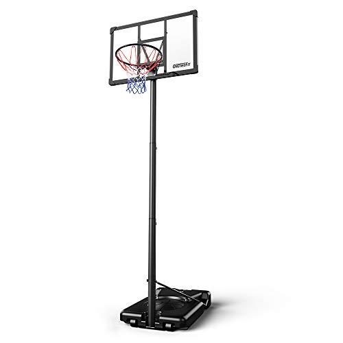 ONETWOFIT Canasta Baloncesto Exterior, aro de Baloncesto portátil Sistema de Baloncesto Ajustable de 262-305cm con aro de 45 cm, Marco anticorrosivo y Tablero de PVC Adecuado para el Exterior OT285
