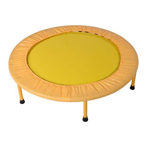 Mini Trampoline 39-Inch Kindersport Trampoline Binnen Trampoline Mute Maximale belasting 100kg Geel