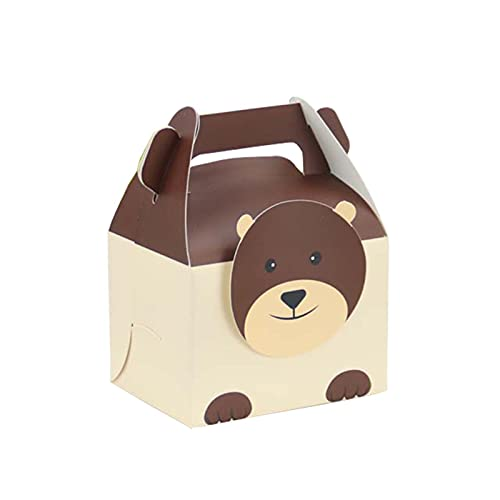 MAUAP Caja de Regalo portátil de la Caja de Regalo de la Caja de Caramelo del Animal del Animal de 6pcs / Lote Caja de Galleta portátil para niños Suministros de Fiesta de cumpleaños