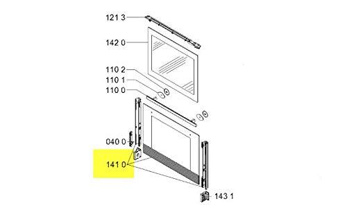 Scheibe Landarbeiter Porte De Backofen Referenz: 481010546755Für Backofen IKEA