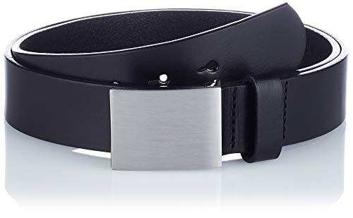 Playshoes Jungen Leder 30 mm Breite Gürtel, schwarz, 85cm
