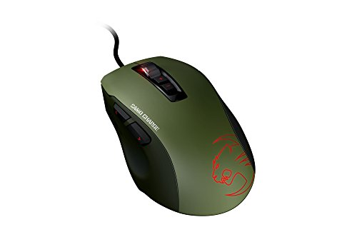 Roccat Kone Pure - Ratón Gaming (Sensor Pro-Optic 5000 dpi, tecla Easy-Shift[+], Omron SwitchEasy), Negro