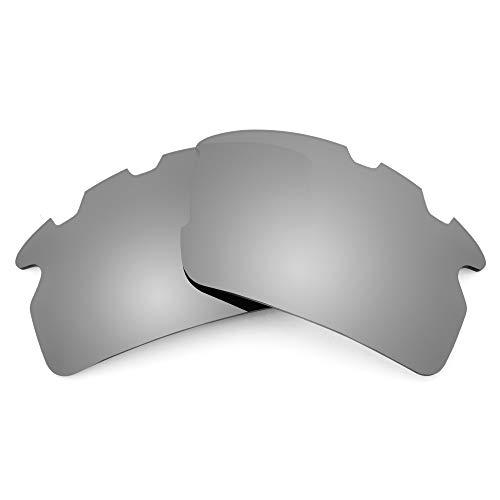 Revant Lentes de Repuesto Compatibles con Gafas de Sol Oakley Flak 2.0 Vented (Ajuste Asiático), No Polarizados, Titanio MirrorShield