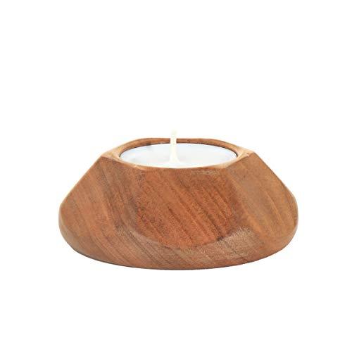 Nklaus 3er Set waxinelichthouder van hout zoete kerk decoratie kaarsenhouder tafel decoratie 36406
