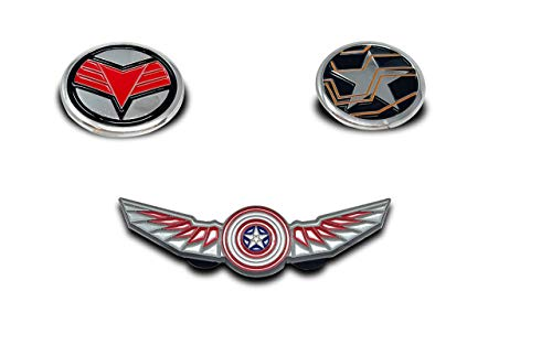 THE FALCON AND THE WINTER SOLDIER COMBO PACK PIN - The Official Marvel Studios Disney Plus, Enamel Lapel Pin, 3-Pins