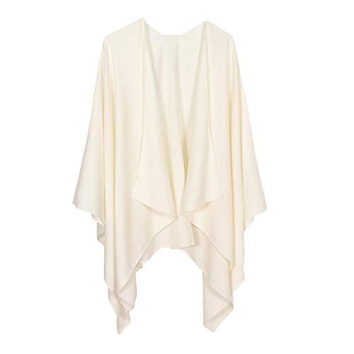 Ritera Damen Kaschmir Poncho Cape Retro Capes für Damen Cardigans Pullover Umhängetuch im Winter