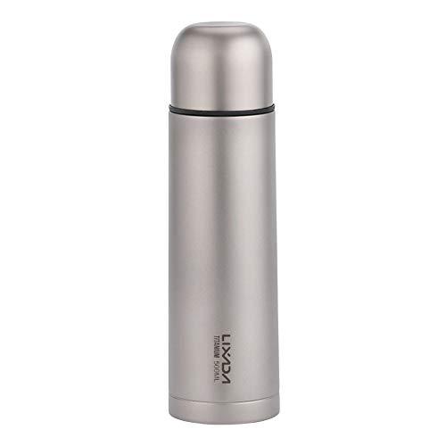 Lixada 純チタン水筒 ウォーターボトル 500ml 真空断熱 保温保冷 超軽量 直飲み 450ml500ml