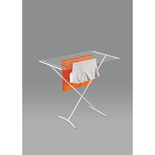 Metaltex 40550014080 Wäscheständer, gekreuzt, beschichteter Stahldraht, weiß, 110 x 82 x 56 cm